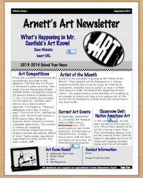 Art Newsletter Template