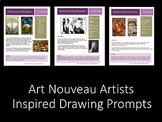 Art Nouveau: 3 Art Nouveau Sketchbook Prompts