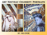 Art Nouveau Celebrity Portraits