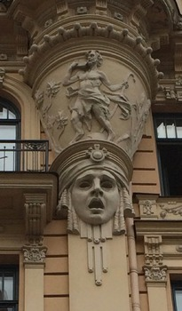 Art Nouveau!!  Free Use Photographs of Art Nouveau of Riga, Latvia