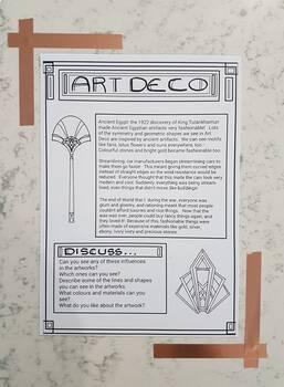 Art Nouveau and Art Deco Influences Handout bundle - Visual Art Information