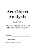 Art Object Analysis used with multiple Literature Titles