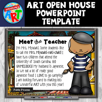 Art Open House PowerPoint Template (Editable)