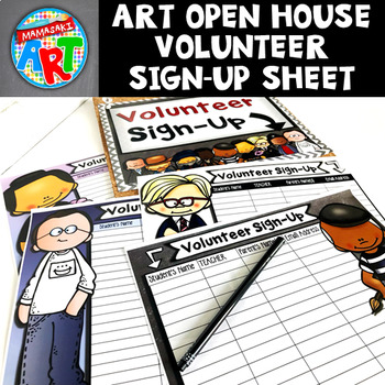 Art Open House Volunteer Sign-Up Sheet