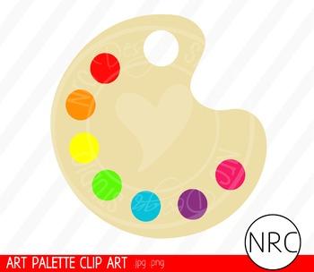 Art Paint Palette Clip Art - Commercial Use Clipart