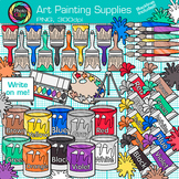 Art Painting Supplies Clip Art | Color Theory, Paint Cans,