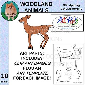 Art Parts: Woodland Animals - Templates and Clip Art