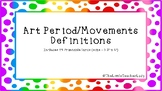 Art Periods/Movements Definitions