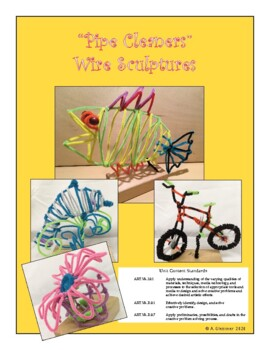 "Art - ""Pipe Cleaners"" Wire Sculpture Unit"