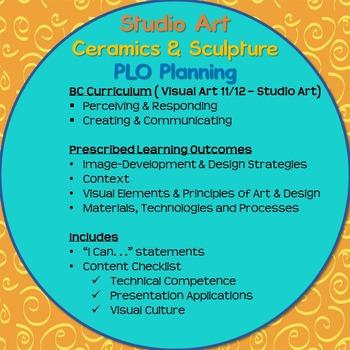 Art Planning - Ceramics and Sculpture