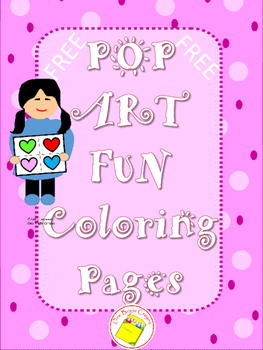 Art Pop Art Coloring Page by One Bright Crayon Teachers Pay