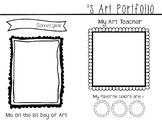 Art Portfolio Cover Page
