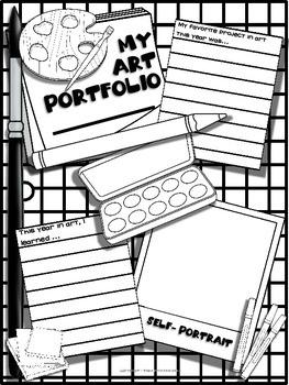 Art Portfolio Cover Printable