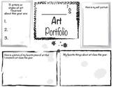Art Portfolio Cover Sheet