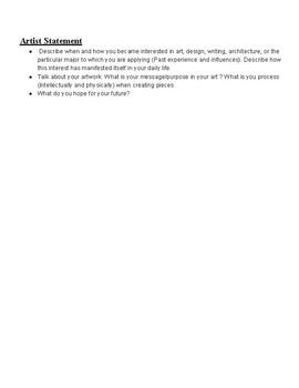 Art Portfolio Guidelines for High School