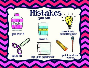 Art Poster: Mistakes into Masterpieces
