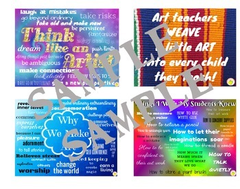 Art Posters - Decorations For the Classroom - Motivational