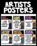 Art Posters - Inspiration Quotes from Great Artists - Classroom Decor