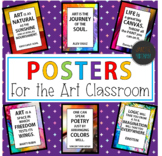 Art Posters | Inspirational Quotes Posters for the Art Room | Classroom Decor