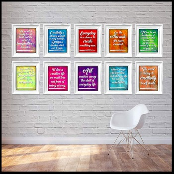 Art Posters! Quotes all about art or by artists! Art Room Decor!