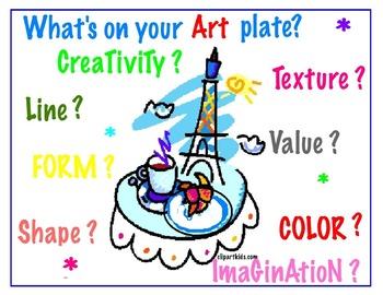 6 Art  Posters  for the Creative Classroom (6 Unique Art M