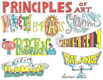 Art Principles Colored Poster