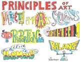 Art Principles Colored Poster