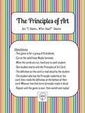 "Art Principles Game, Printable Cards ""I Have, Who Has?""- S"