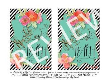 Art Prints {Printable & Frameable}: Sparkle & Teach