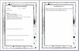 Art Process and Reflection Worksheets