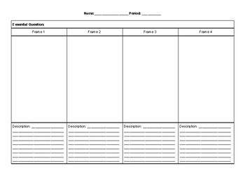 Art Project Assessment sheet