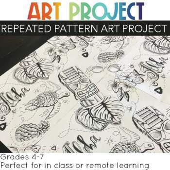 Art Project Continuous Pattern Illustration (nearly free project)
