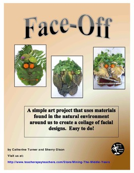 Art Project - Create Facial Collages with Materials from Nature