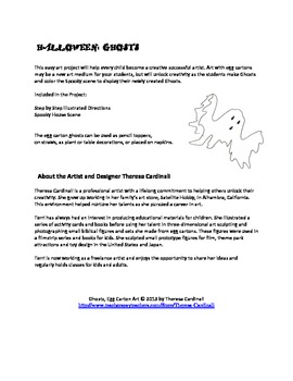 Free Art Project: FREE Halloween Ghosts FREE