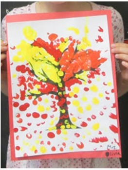 Art Project: Fall Fingerprint Tree