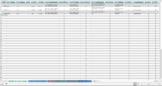 Art Project Grading Rubric - Excel Spreadsheet