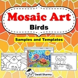 Spring/Birds Art Project, Mosaic Pattern Worksheets