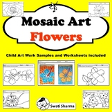 Spring Art Project Mosaic Pattern Flowers, Distance Learning