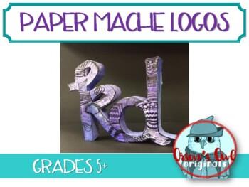 Paper Mache Pop Art Logo