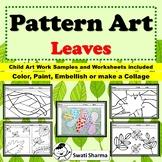 Spring Line Art, Fall Art Activity, Pattern/Pop Art Leaves