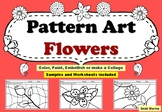 Art Project, Pattern Art/ Pop Art Flowers Worksheets