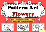Spring Art Project, Pattern Art/ Pop Art Flowers Worksheets