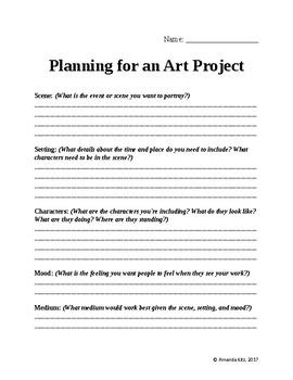 art project planning sheet by essentials teachers pay teachers