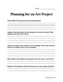 Art Project Planning Sheet