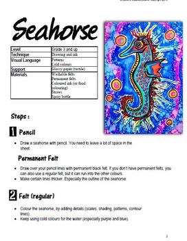 Art Project: Sea horse