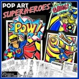Art Project: Superheroes ! Pop Art