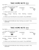 Art Project Take Home Worksheet - Editable