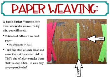 Weaving: paper and/or yarn