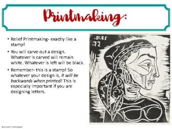 Zentangle Line Printmaking