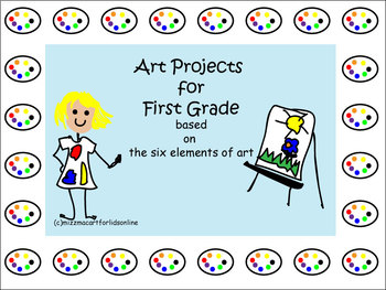 Art Projects for First Grade Bundle Back to School